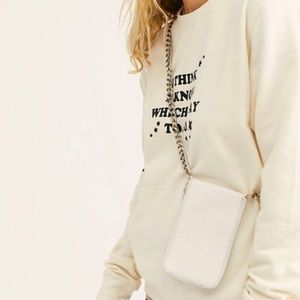 FreePeople All Night Chunky Chain Wallet in white